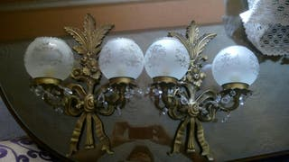 apliques lampara bronce