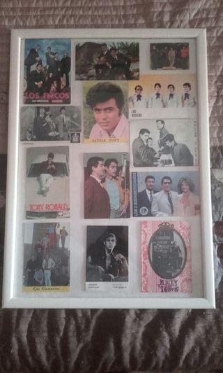 Postales musicales años 60 enmarcadas