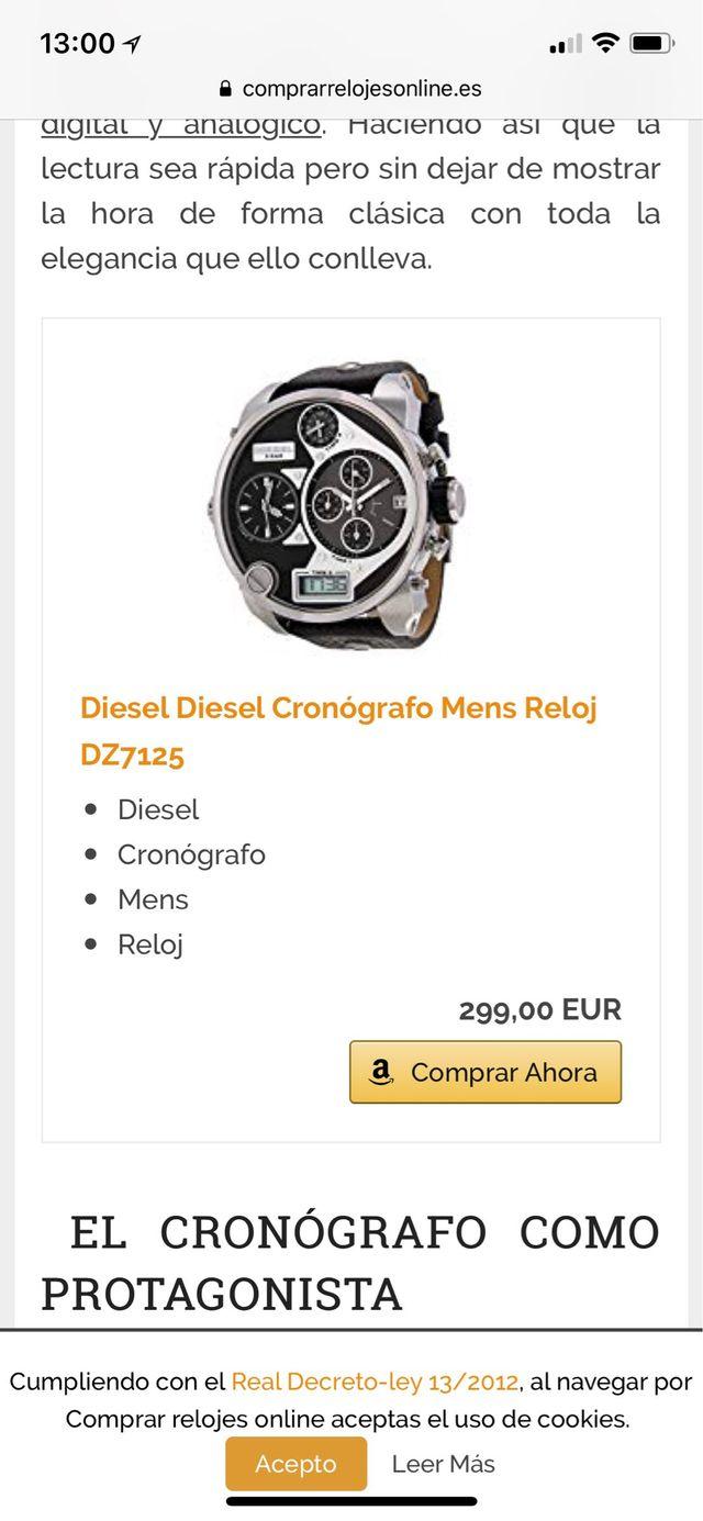 082439dae6a2 Reloj diesel dz7125 negro de segunda mano por 200 € en Agost en WALLAPOP