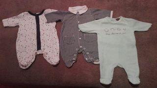 Lote de 3 pijamas de bebe