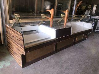 Mostrador panaderia refrigerado tres metros