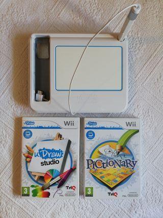 Wii uDraw + juegos