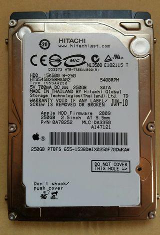 Disco duro Apple 250 GB