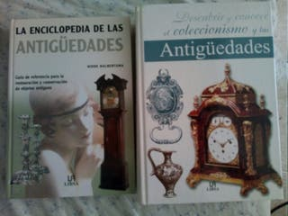 Lote 2 libros sobre antigüedades.