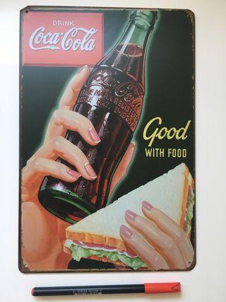 Publicidad metalica Coca Cola