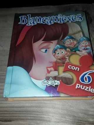Libro infantil Blancanieves incluye 6 puzles