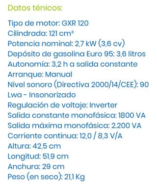 Generador Honda EU22i 2200w (EU20) (2000w)