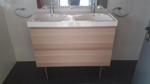Mueble ba o lavabo 100 cm ikea de segunda mano por 170 en sant lloren d 39 hortons en wallapop - Mueble ikea bano ...