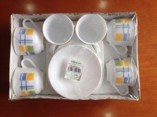 Juego de tazas y platos vintage ARCOPAL café o té
