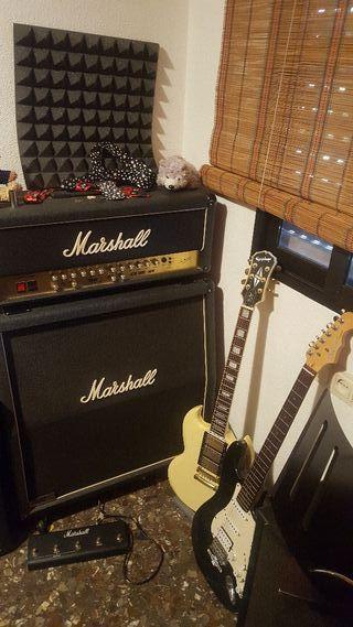 Ampli Marshall TSL60 y guitarras