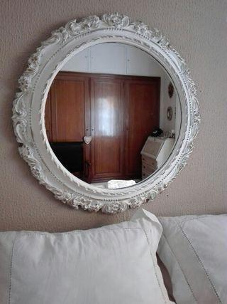 Espejo redondo 80cm diámetro.Antiguo restaurado