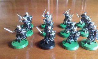 12 guerreros Gondor.Warhammer