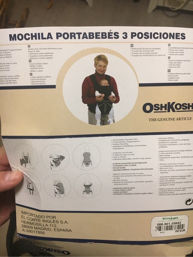 Mochila portabebé