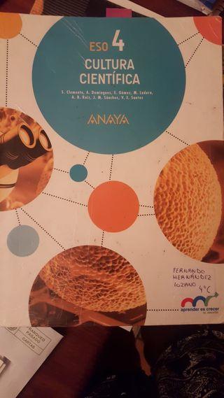 Libro cultura cientifica 4 eso