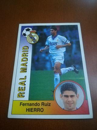 Panini Liga 94-95 cromo #190 Hierro - Real Madrid