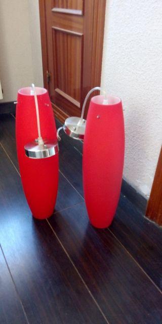 Lámparas de cristal nuevas a estrenar 49x13 cm