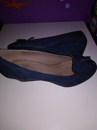 zapato cuña mujer