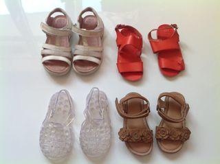 Lote de sandalias niña