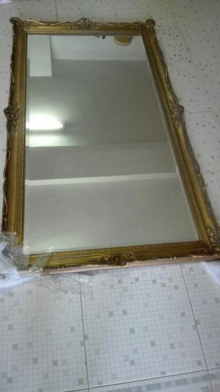 Espejo antiguo dorado de segunda mano en madrid en wallapop for Espejos segunda mano barcelona
