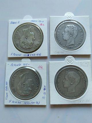 lote monedas antiguas de plata