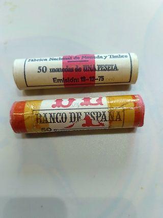 lote de cartuchos FNMT dd 1 peseta 1975 (*79)