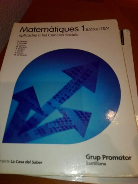 Libro Matematicas 1 batxillerat