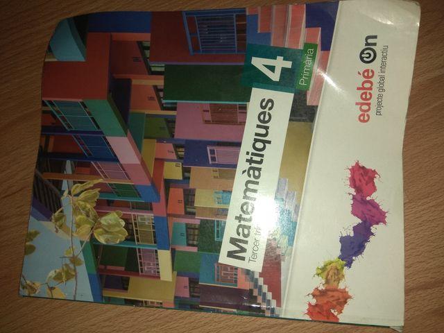 libro matemáticas cuarto de primaria
