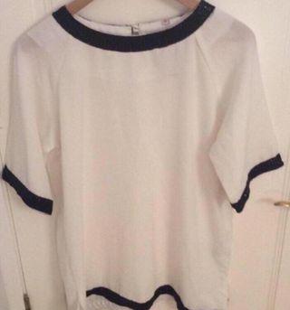 Blusa almatrichi blanco&negro