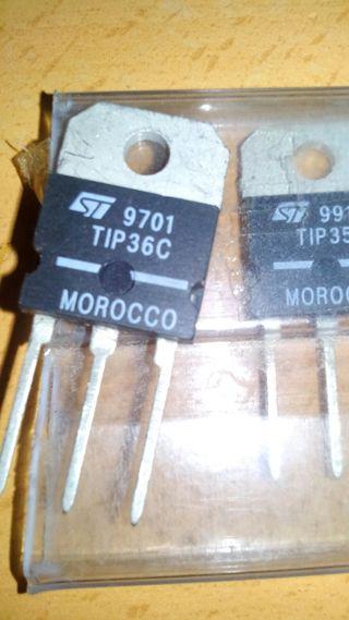 2 transistores de pontencia. TIP36c