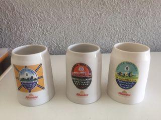 3 jarras de cerveza Alhambra