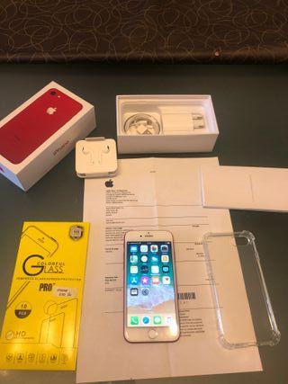 Iphone 7 128gb ROJO LIBRE con factura