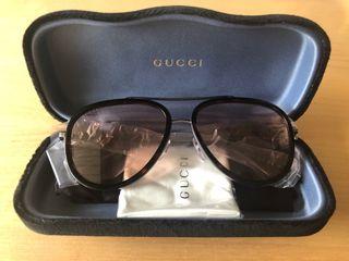 Lunettes de soleil Gucci - GG0062S Metal ruthenium