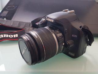 Cámara fotográfica Manual Canon 450D + 2 Lentes