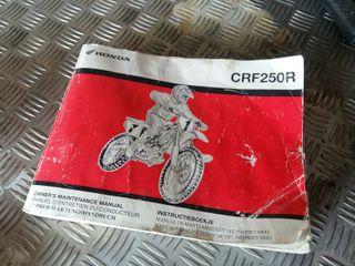 Manual crf 250