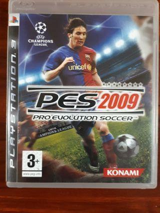 PES 2009 - SONY PLAYSTATION 3 - FUTBOL
