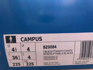 adidas campus negras 36