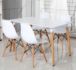 Mesa con sillas Estilo Nordico