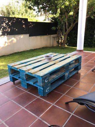 Mesa Para Jardin Palets De Segunda Mano En Wallapop