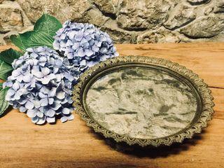Bandeja espejo bronce antiguo