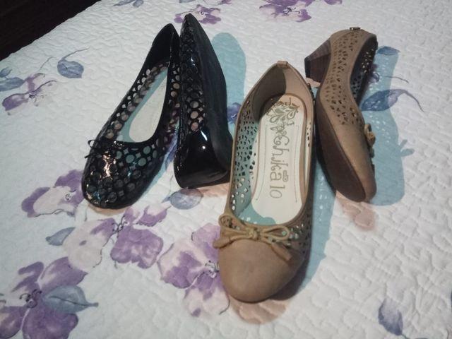 5450d774c9f Parisinas y zapatos tacon bajo de segunda mano por 10 € en Sestao en ...