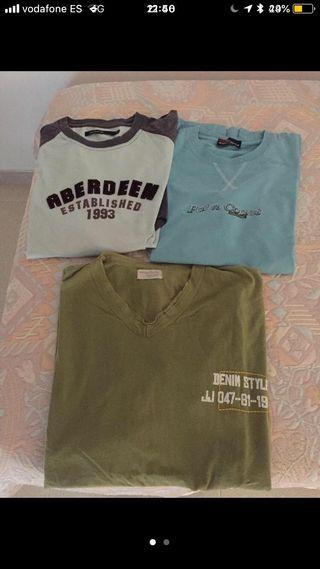 3 camisetas chico XL