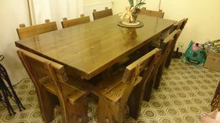 Mesa de txoko + 8 sillas