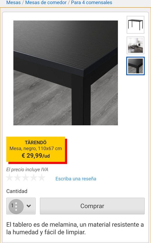 Mesa comedor tarendo ikea de segunda mano por 40 € en Sevilla en ...