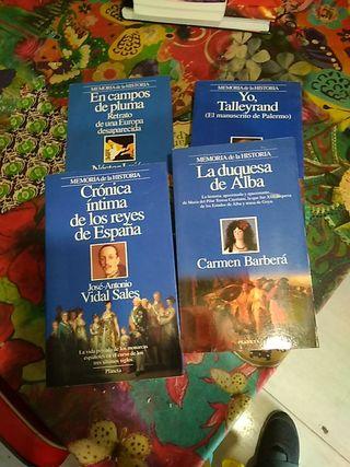 4 libros memoria de la historia con ilustraciones