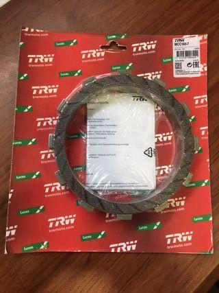 Set 7 discos embrague TRW Triumph 800 y 865cc