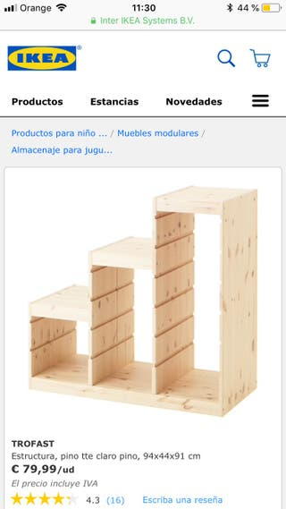 Mueble Ikea niños de segunda mano - wallapop