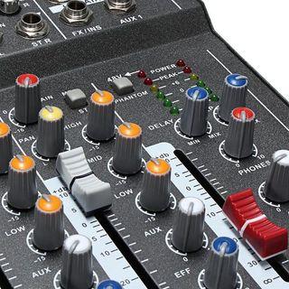 Mezclador 4 canales profesional MP3 USB