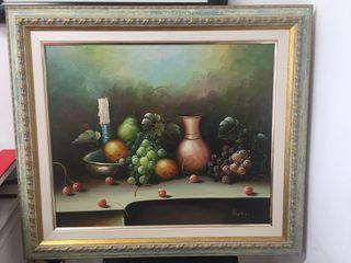 Cuadro Bodegon firmado por el pintor BAZAS