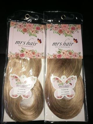 coleta cabello 100% natural remy