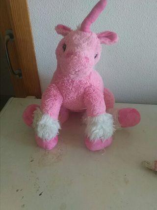 unicornio peluche grande rosa